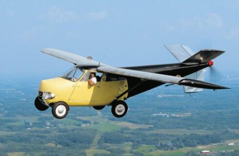 IKKE SÅ NYTT: Den flyvende bilen er en visjon nesten like gammel som bilismen. Her, en Taylor flybil som ble presentert første gang for over 60 år siden.