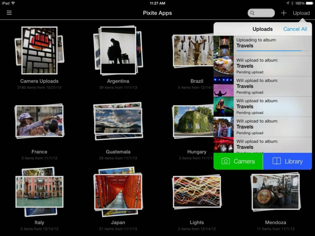 VISUELT: Det er lett å få oversikt over Dropbox-bildene når hver mappe vises som et eget album. Foto: UNBOUND