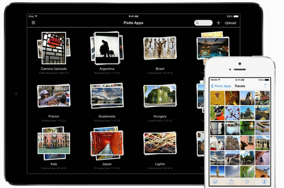 BEDRE: Unbound for Dropbox gjør det til en fryd å se bilder på din iPhone eller iPad.  Foto: UNBOUND