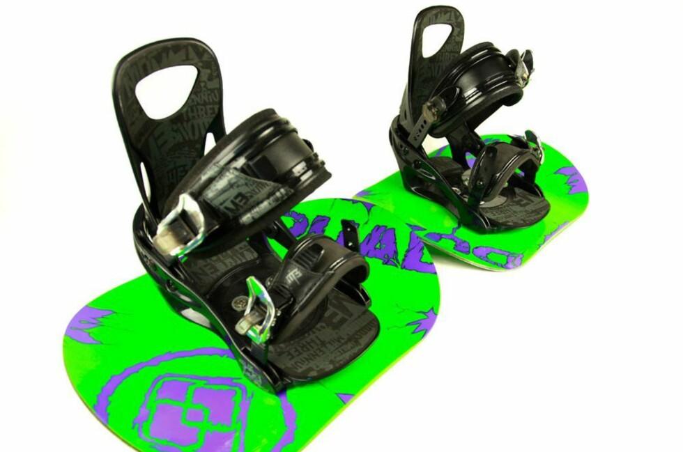 FØTTENE FRI: Med Dual Snowboard har du større begevelsesfrihet enn med vanlige snøbrett.
