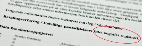 Intet negativt registrert er altså en god nyhet, for har du først havnet i registeret kan det bli vanskeligere å få ny jobb. Foto: Per Ervland