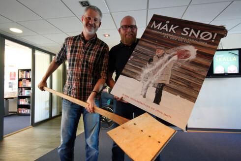 """John Smits og Bjørn Skomakerstuen  er aktuell med boken """"Måk Snø"""". Foto: Berit B. Njarga"""