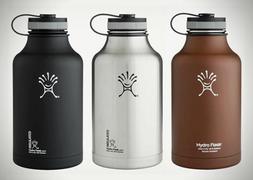 Øltermosen er tilgjengelig i tre farger. Foto: Hydroflask.com