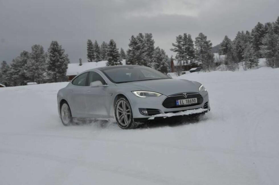 Tesla Model S Foto: STEIN INGE STØLEN