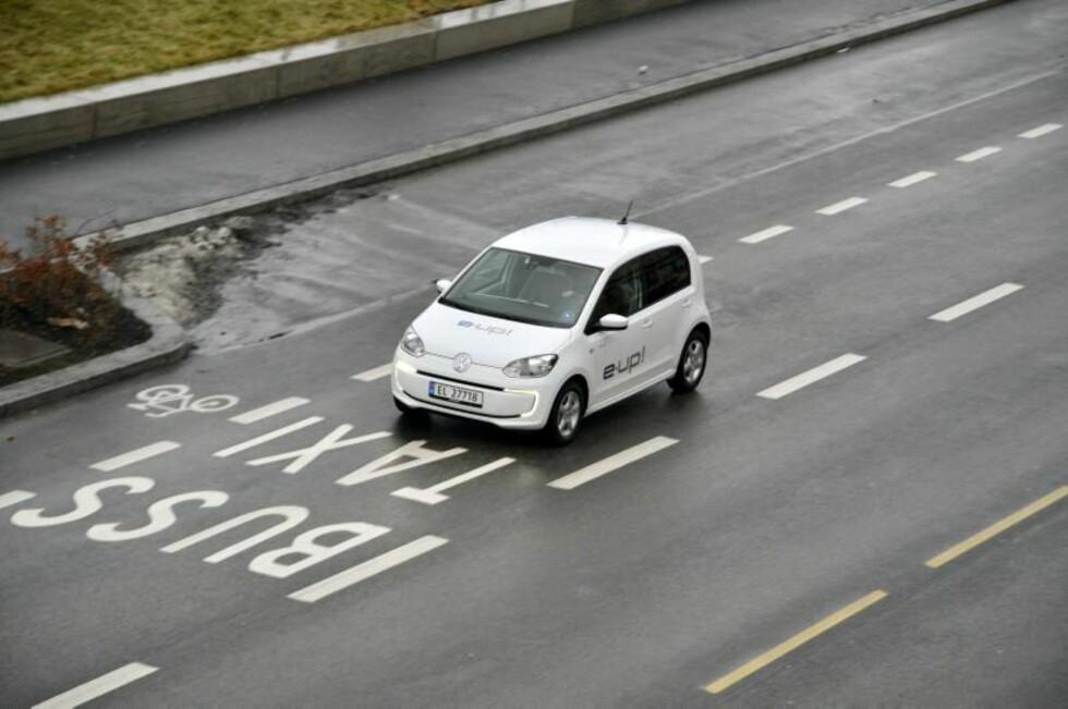 Volkswagen e-Up! Foto: Stein Inge Stølen