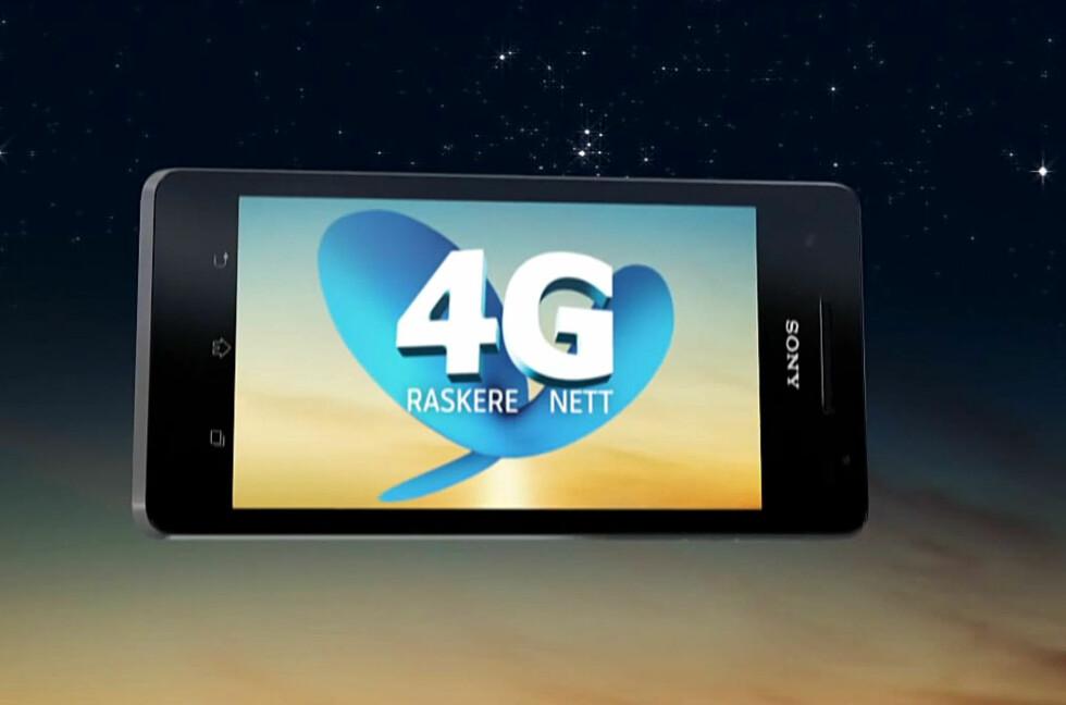 """SAKENS KJERNE: I Telenor-reklamene forteller de deg at 4G er et """"raskere nett"""". Men sannheten er at 3G kan være raskere.  Foto: Youtube.com/user/TelenorNorway"""