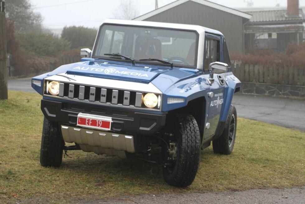 HX har klare liikhetstrekk med Hummer-familien. Den tøffeste elbilen på markedet så langt. Foto: Tommy Simon Norum