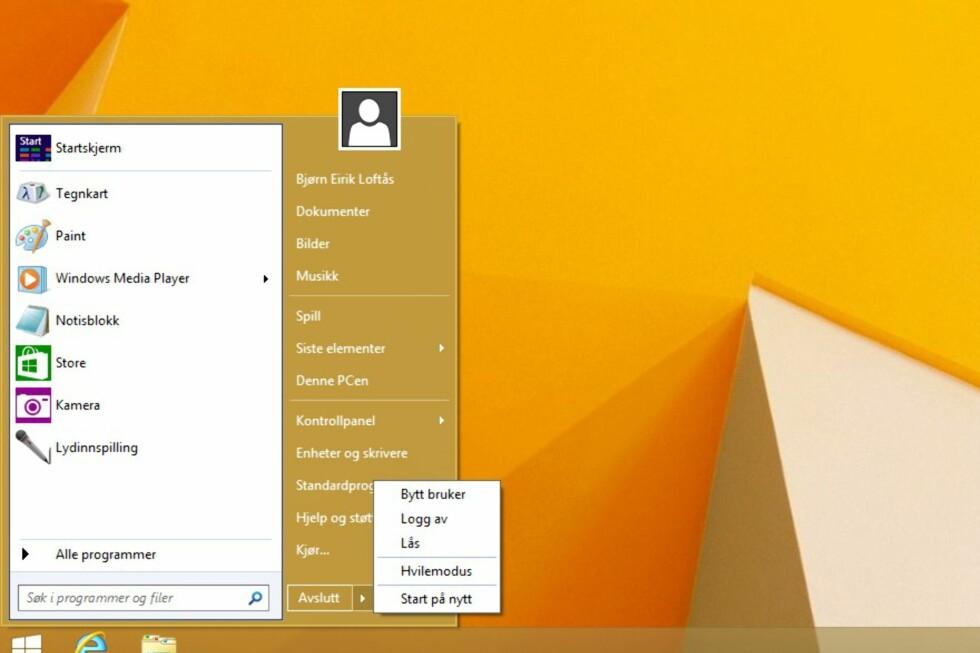 Mange savner den klassiske startmenyen i Windows 8/8.1. Nå kan den være på vei tilbake. Om den blir seende ut som Classic Shell (bildet) er imidlertid ikke sikkert.