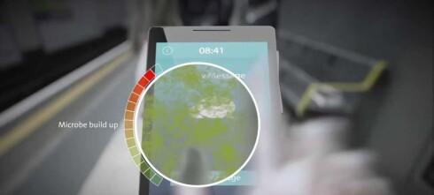 Fremtidige mobilskjermer vil motvirke bakterier