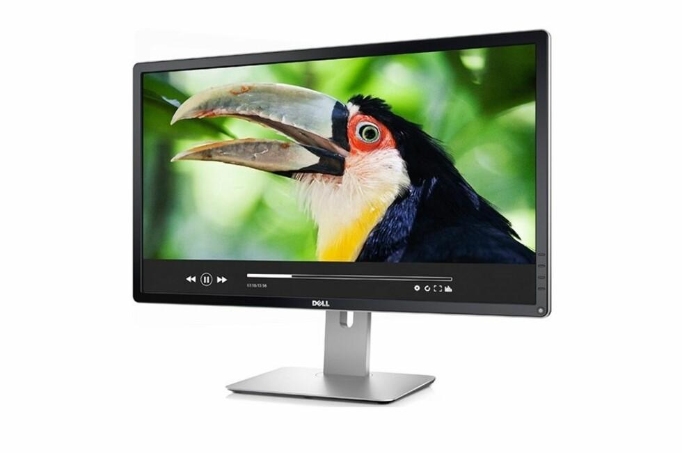 Ønsker du deg en stor skjerm på skrivebordet med høy oppløsning? Denne har fire ganger HD-oppløsning og er 28 tommer stor. Foto: Dell