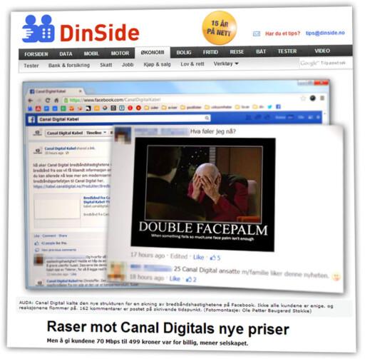 DÅRLIG MOTTATT: Mange kunder ble ikke akkurat imponert over Canal Digitals nye portefølje.  Foto: DinSide, 22. august 2013
