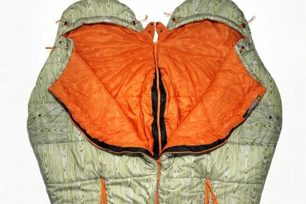 KOS I POSE: Zipp sammen soveposene for det produsenten sier skal være mer enn nok plass for at to stykker skal kunne gjøre noe annet enn å sove.  Foto: Alitedesigns.com