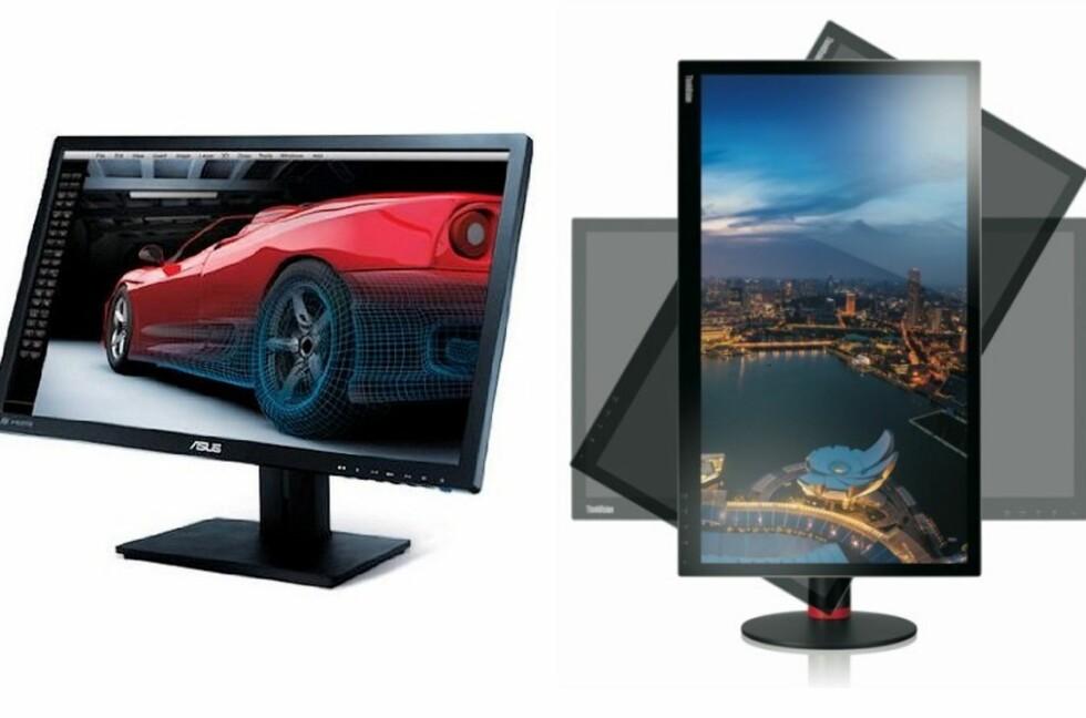 Store skjermer med firedobbel HD-oppløsning kommer snart til å bli et vanlig syn. Her er Asus og Lenovo sine ferske nyheter på den fronten. Foto: Asus/Lenovo