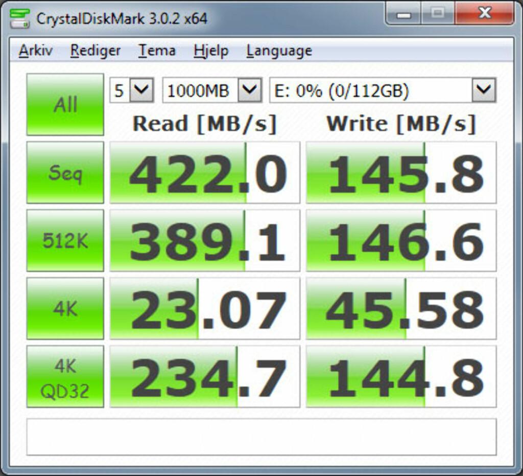 Testresultat SSD