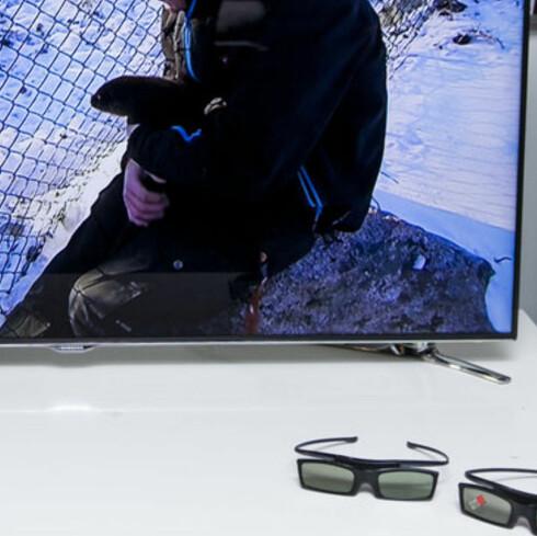 Samsung F8005 er en flott TV. Foto: ØYVIND PAULSEN