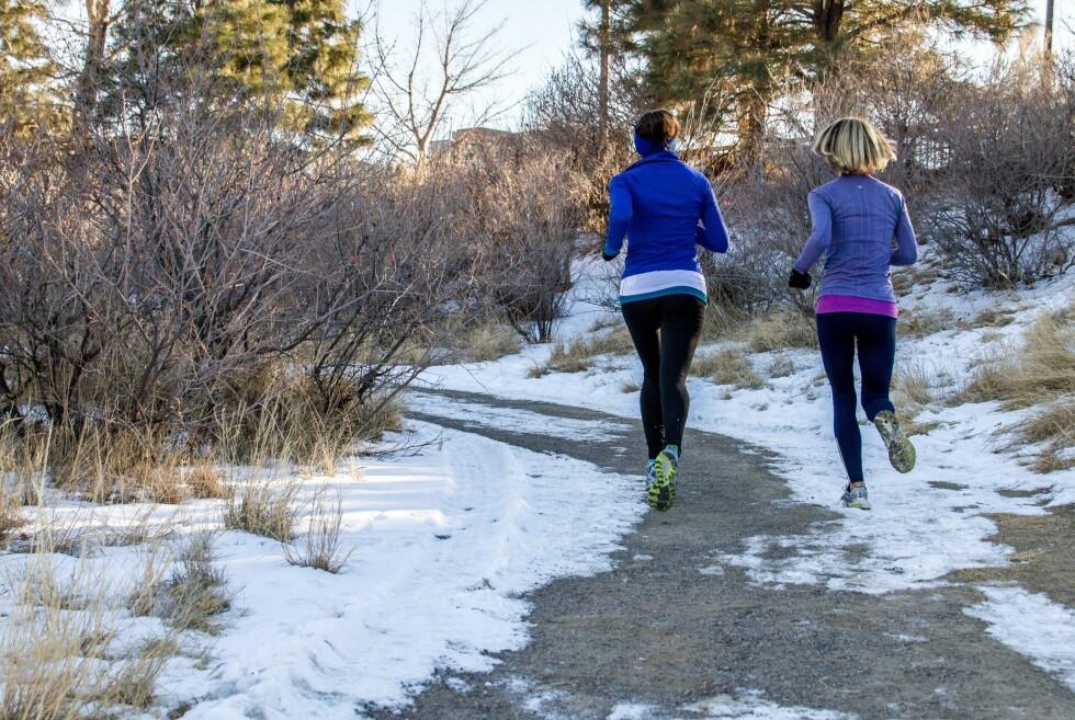 VINTERGLEDE: Erfarne løpere sier løping i seks, sju minus på en solfylt dag er sterkt å anbefale.  Foto: PantherMedia