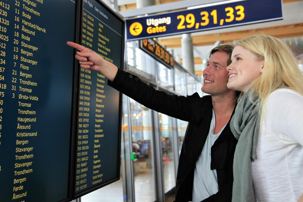 REIS BILLIG: Er du ute etter billige flybilletter, bør du føle med på kampanjer og sesongslipp. Flyselskapene pleier å ha kampanjer ved årsskifte, så følge med i disse dager! Foto: Oslo Lufthavn