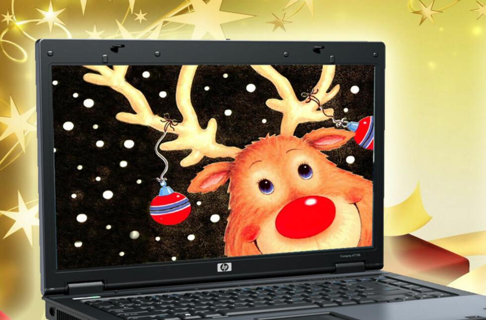 Hvis du likevel tilbringer julaften foran PC-en, kan du like gjerne krydre med litt julestemning.