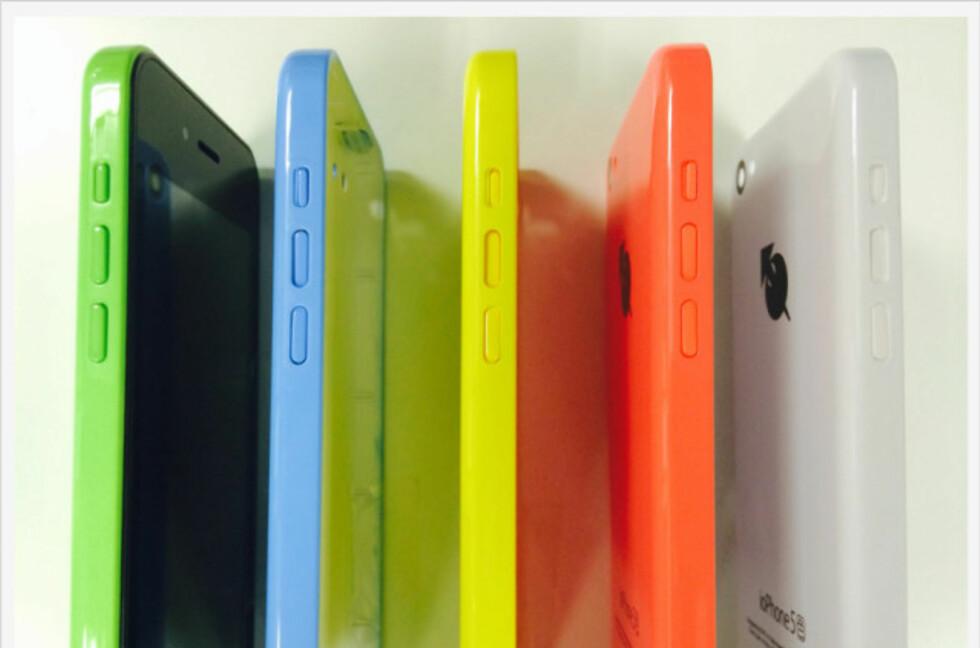 Nei, det er ikke iPhone 5C, men ioPhone 5. Selvfølgelig... Foto: Produsenten