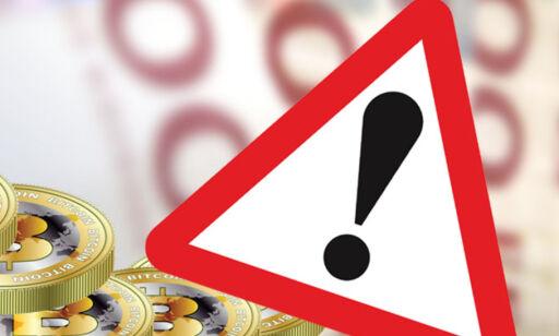 image: Advarer om farene ved bruk av Bitcoin