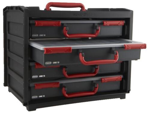 Raaco bokser er svært praktiske og fleksible for oppbevaring av smådeler Foto: Produsenten