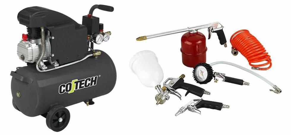 Kompressor gir trykkluft til mange slags verktøy. Veldig kjekt å ha. Foto: Produsenten
