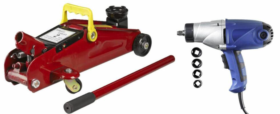 Garasjejekk og muttertrekker gjør hjulskifte til en lek Foto: Produsenten