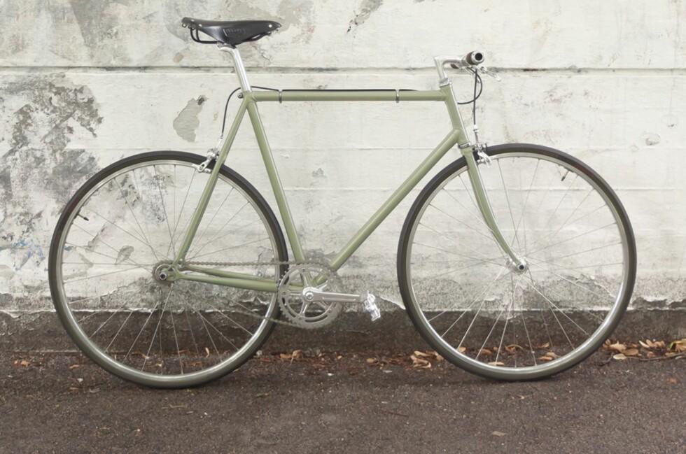 HELT NY: Her er Oslo Sykkelkompanis splitter nye modell, OSK 0173, kalt opp etter postkoden til butikkens nabolag.  Foto: Oslosykkelkompani.no