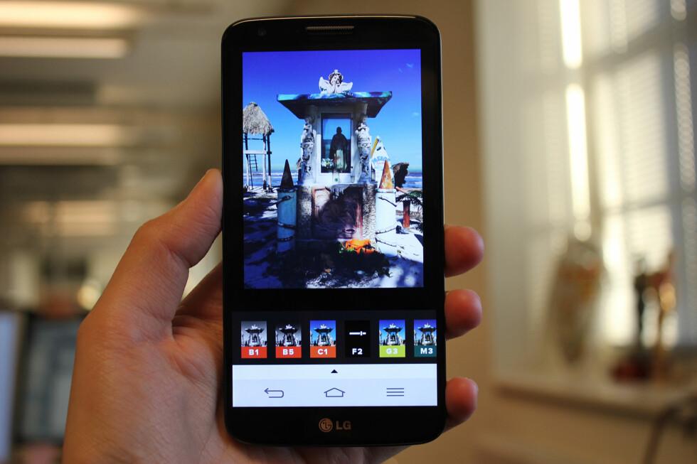 I VINDEN: VSCO Cam er fotoappen alle snakker om. Den lar deg fikse opp mobilbildene dine på enkelt vis.  Foto: KIRSTI ØSTVANG