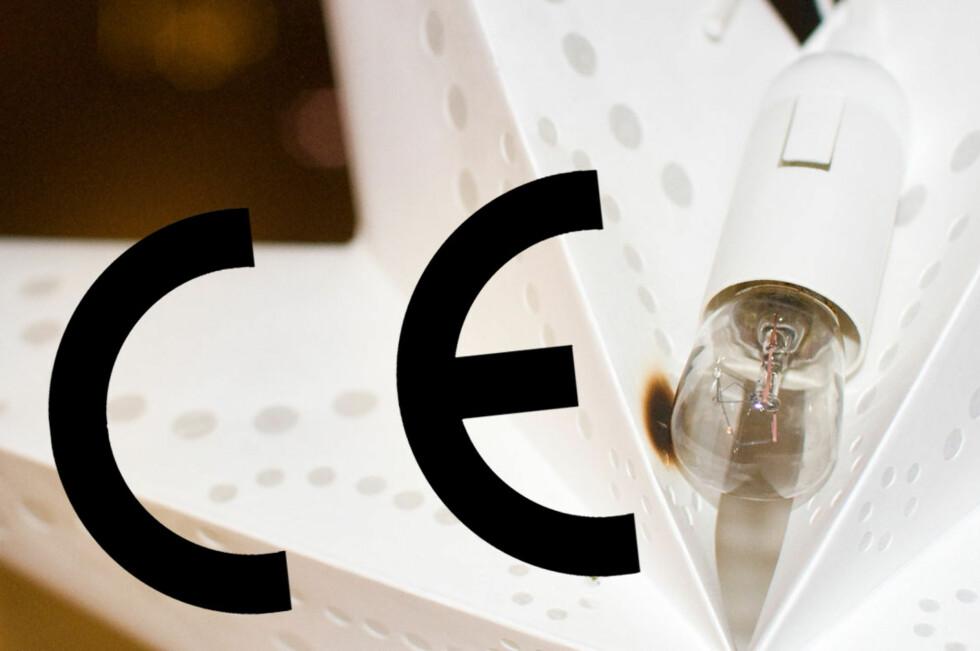 Ikke alle CE-merker er like, og bare ett sier noe om standarden. Dette er merket du skal se etter.  Foto: Tryg