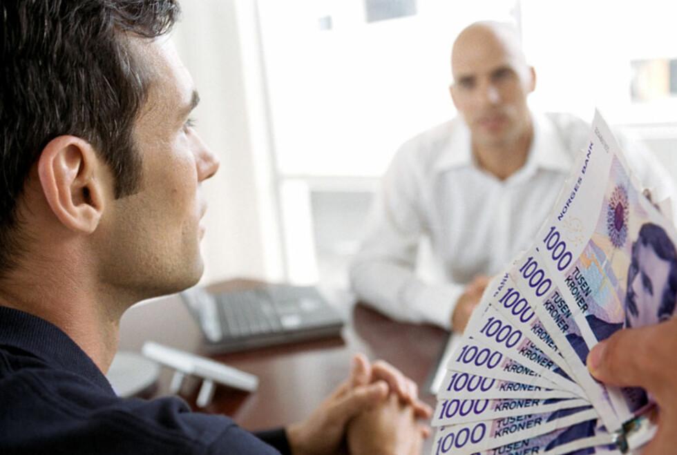 Lønnsveksten de neste årene vil etter all sannsynlighet bli noe mer moderat enn tidligere år. Foto: Per Ervland/Colourbox
