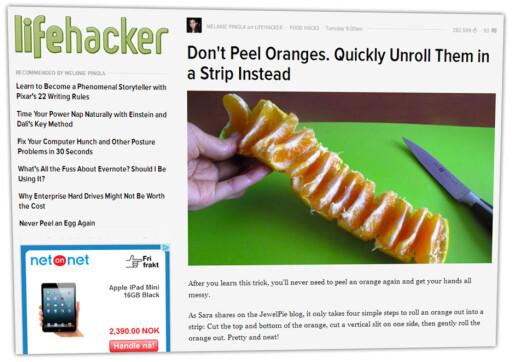 FASIT: Så pent skal det bli. Det krever nok litt øvelse.  Foto: Lifehacker.com
