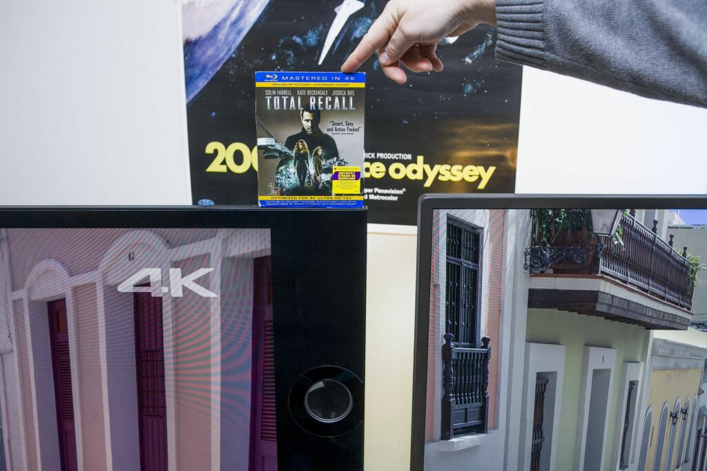 Sonys høyttalere gir god lyd, men tar også mye plass og gjør TV-en uvanlig bred. Philips til høyre. Foto: PER ERVLAND / DINSIDE.NO
