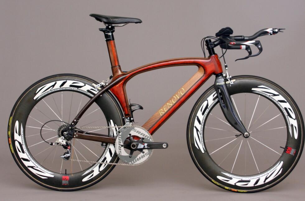 HEFTIG:  Rammen på denne triatlonsykkelen har Renovo kalt Hoodoo, er bygget på en Kuota Kween K-sykkel. Det er også en av de dyreste rammene Renovo lager.  Foto: Renovobikes.com