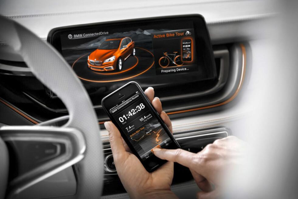 Mer interaktivitet  Forvent mye moro i menystyringen for de aktive. Foto:  BMW