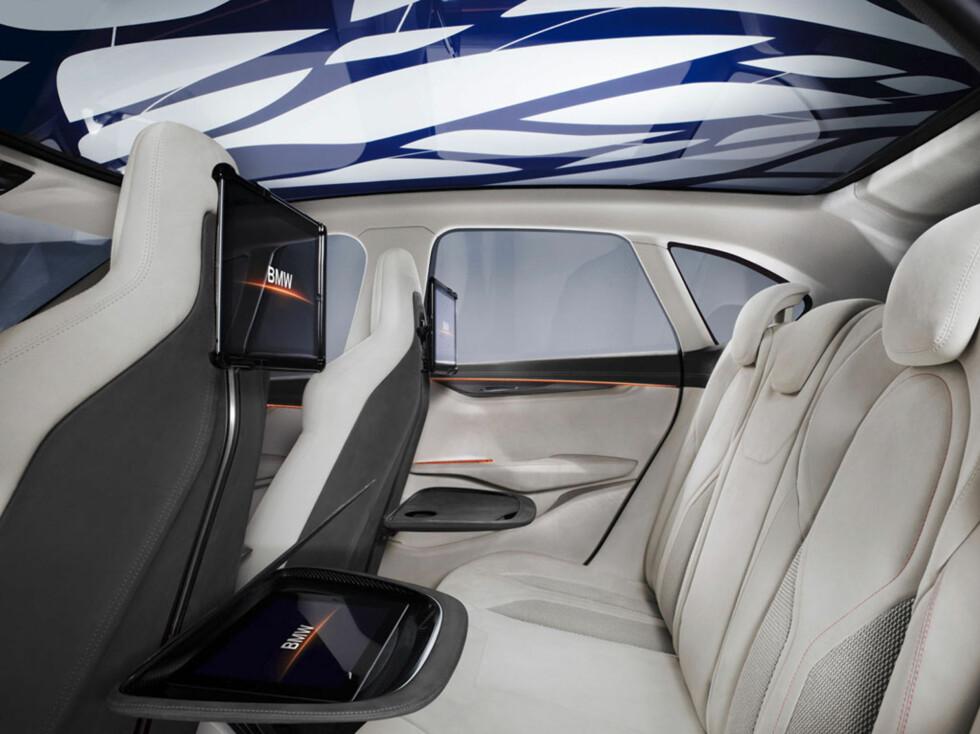 Hype. Slik så fjorårets konsept ut inni. Designet blir nok kraftig nedtonet. Foto:  BMW