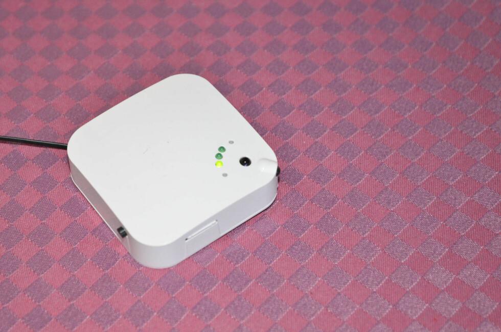 Denne kan styre varmepumpen din fra mobilen. Foto: Brynjulf Blix