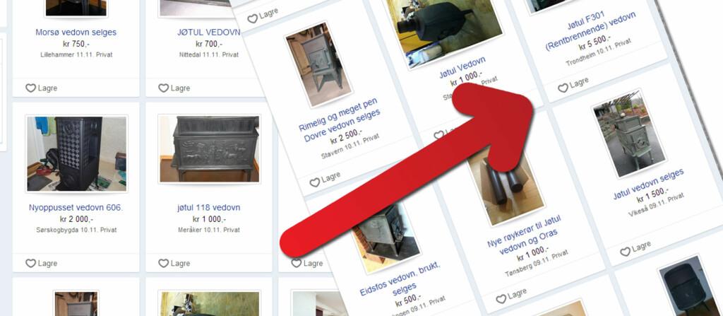<b>SJEKK DETTE FØR DU KJØPER BRUKT:</b> SKal du kjøpe brukt peisovn, bør du kontrollere at den er rentbrennende. Det er nemlig forbudt å installere eldre ovner fra før 1998, da disse ikke er rentbrennende. Foto: Finn.no/Kristin Sørdal