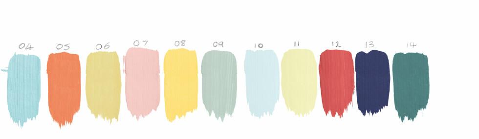 Det er 11. gang Akzo Nobel lanserer colour of the Year. Her kan du også se tidligere års farger. Foto: Nordsjö