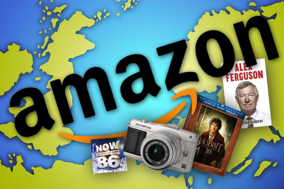 FRA ENGLAND TIL NORGE: Amazon.co.uk sender gjerne varer til Norge. De ordner det til og med så du betaler moms og avgifter med én gang, på noen varer. Men det lønner seg ikke alltid.  Foto: Ole Petter Baugerød Stokke