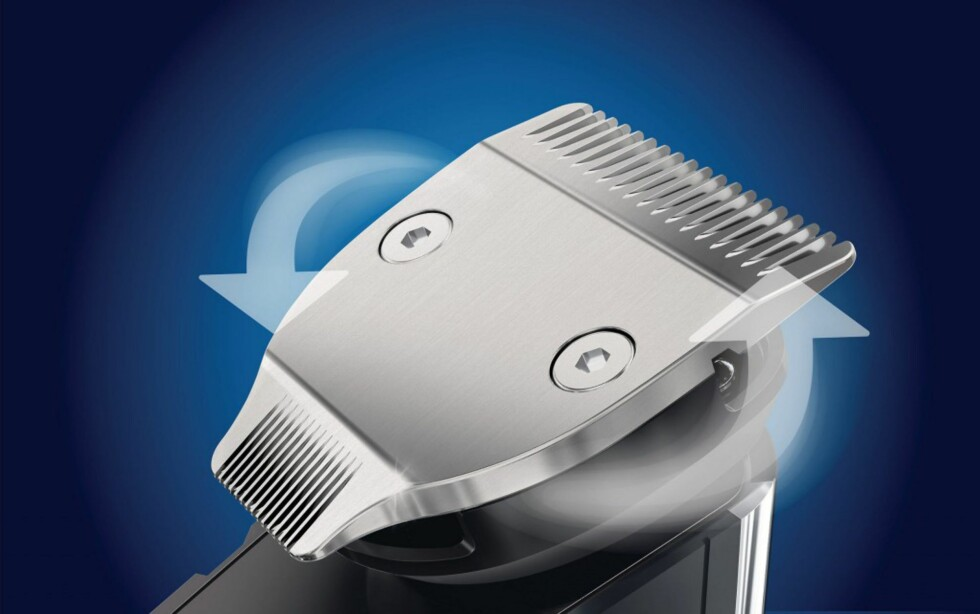 Det doble skjærehodet kan snus slik at du kan velge mellom 32mm eller 15mm bredde. Testpilotene setter ekstra pris på den minste delen til fintrimmingen.