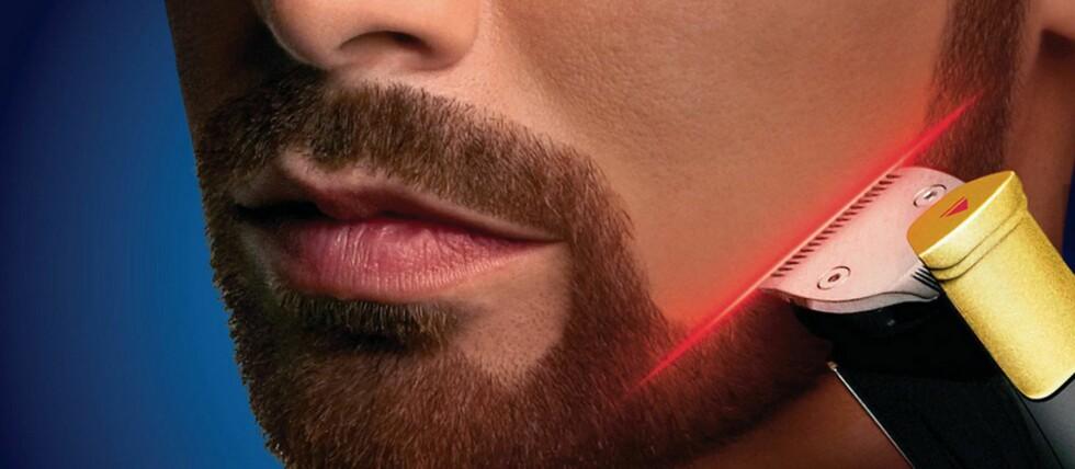 Philips har introdusert laser på sin siste skjeggtrimmer. DinSide sendte produktet til ti testpiloter –hva de synes om laseren kan du lese om i denne testrapporten. Foto: Produsenten