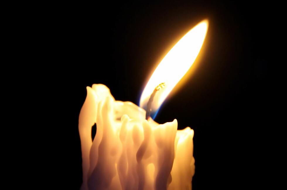 Husk å slukke stearinlys om du forlater rommet. Foto: Colourbox.com