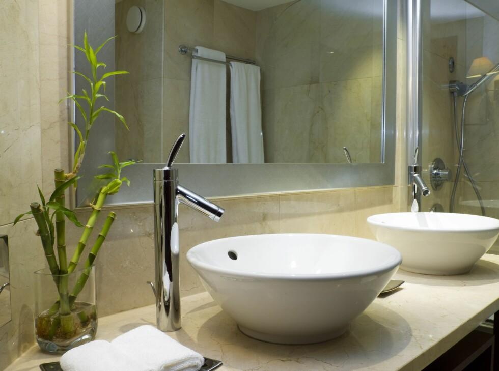 Løse frittstående håndvasker er ikke farlig, per se - men vær obs på at det kan renne vann ned langs sidene, og samle seg rundt basen av vasken. Dette er et ynglested for bakterier, og det er lett for muggsoppangrep. Foto: Panthermedia