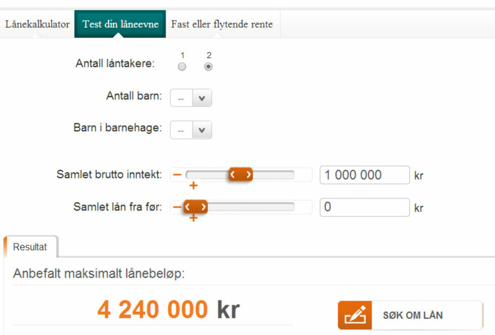 Én million mindre i boliglån