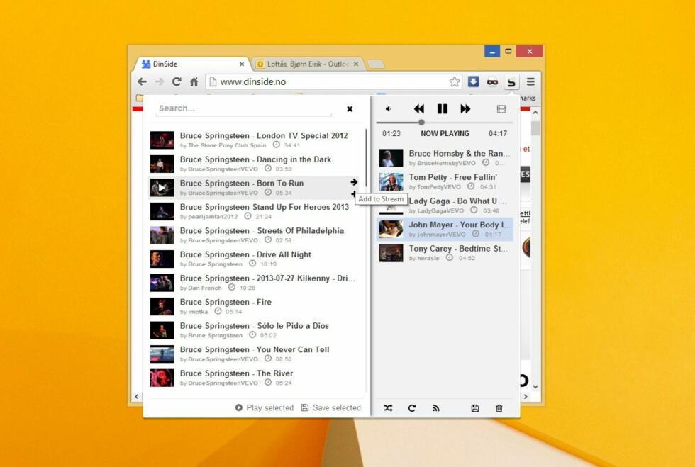 Streamus er en kjapp, brukervennlig og gratis løsning for musikkstreaming i nettleseren Google Chrome.