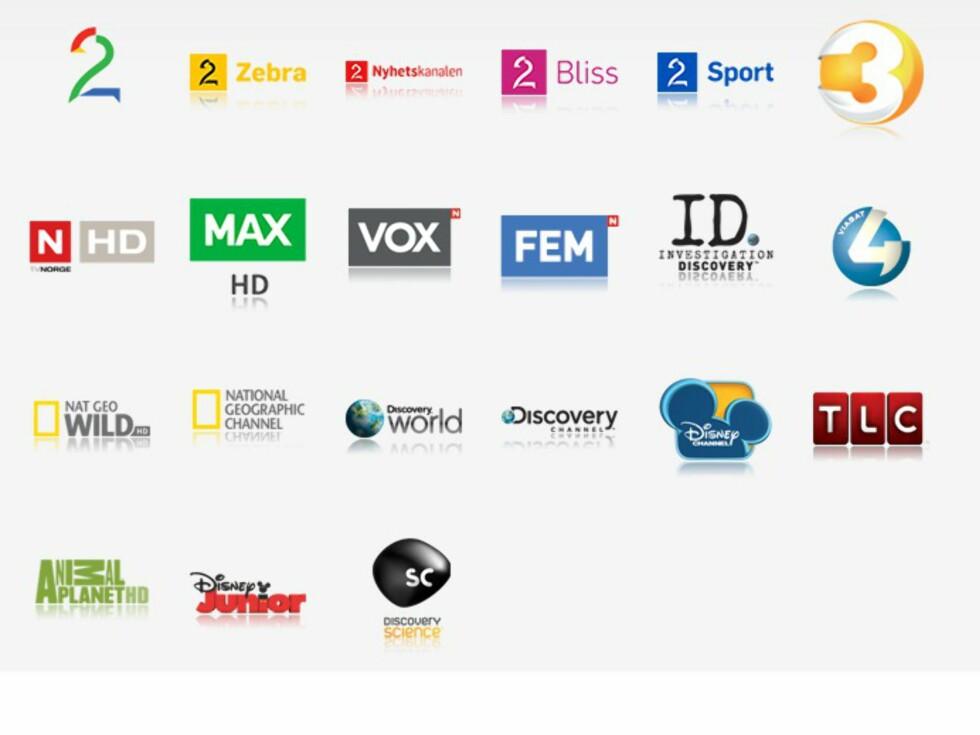 """Disse kanalene tilbyr """"Start forfra"""" og """"Ukesarkiv"""". TV3 skal være på plass etter OL, sier Canal Digital.  Foto: Canal Digital"""