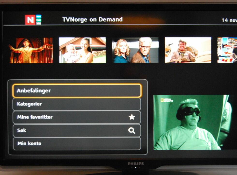"Slik ser TVNorges tilbud ut i ""TV-arkiv"".  Foto: Thomas Strzelecki"