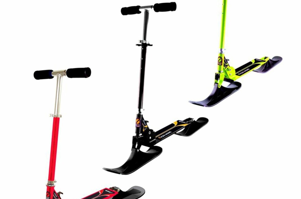 ÅRETS SLAGER? Stiga Snowkick snøsparkesykkel til rundt 300 kr. kan bli en av årets store selgere.  Foto: Produsent