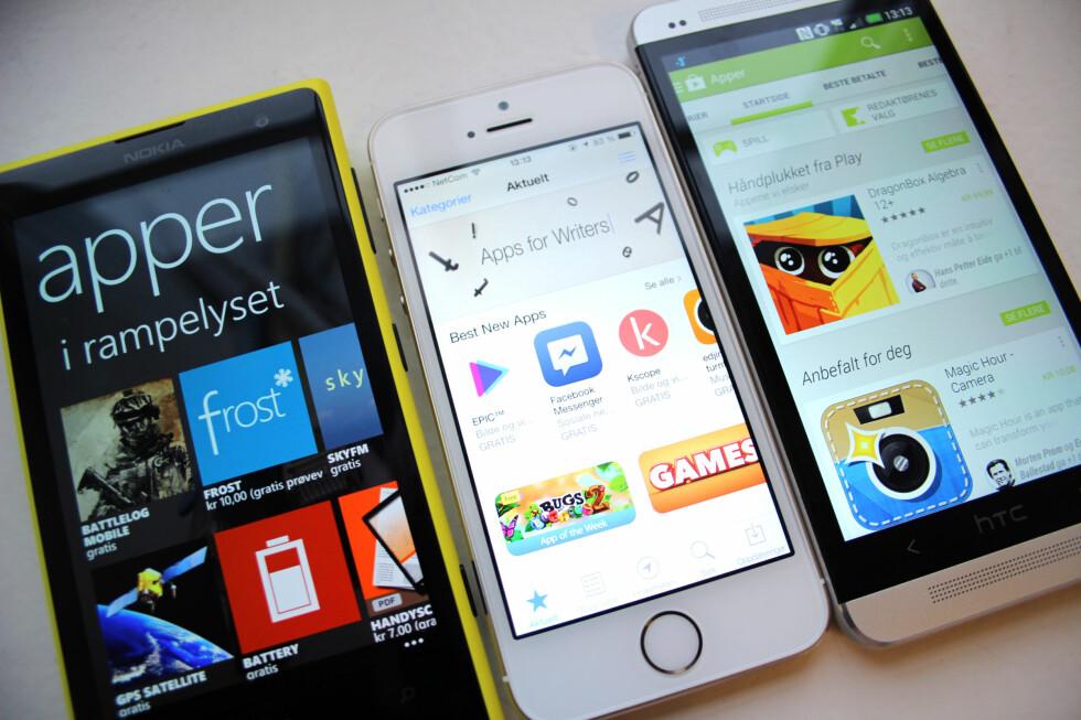 Skal du bytte plattform, eller bruke to mobiler fra forskjellige verdener samtidig?  Foto: KIRSTI ØSTVANG